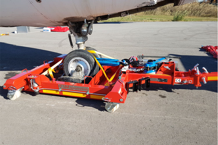 technical data of RD10 - 10 tons aircraft recovery dolly
